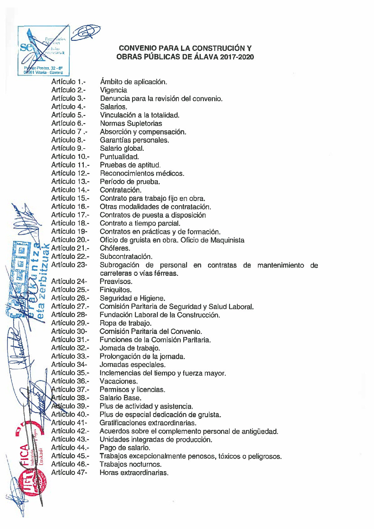 Calendario Laboral Alava 2020.Firma Del Convenio Colectivo Para La Construccion Y Obras Publicas