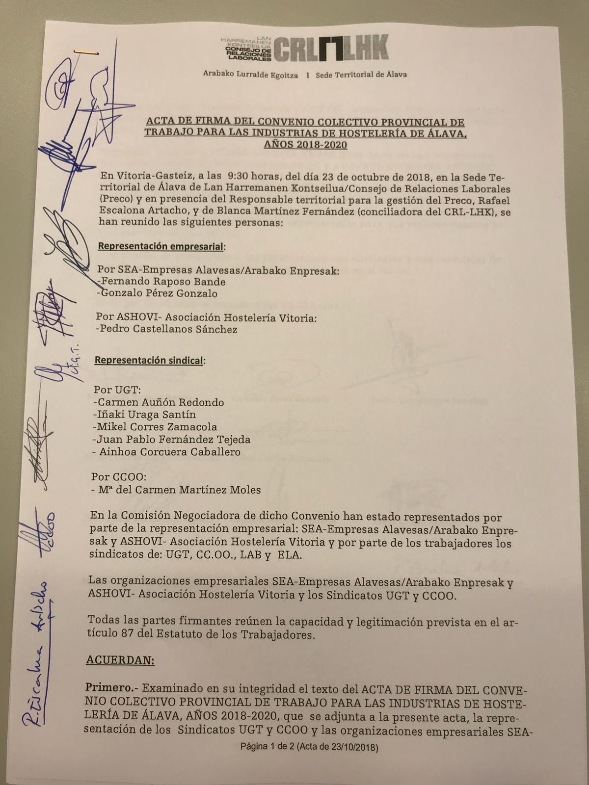 Calendario Laboral Alava 2020.Laboral Y Negociacion Colectiva Sea Empresas Alavesas