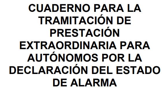 Cuadernos para autonómos ante el estado de alarma (20-03-2020)