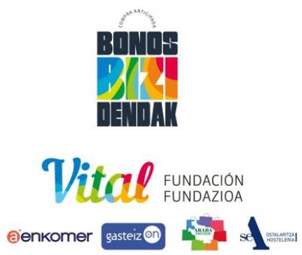 Fundación Vital lanza, con el apoyo de SEA Hostelería, Gasteiz On, Arabadendak y Aenkomer, la campaña BIZIdendak para apoyar la supervivencia de la hostelería y el comercio minorista