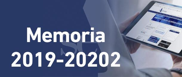 Memoria 2019 -2020